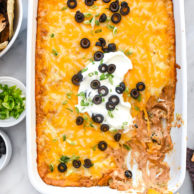 Cheesy Texas Trash Dip | foodiecrush.com