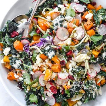 Chopped Mexican Kale Salad | foodiecrush.com