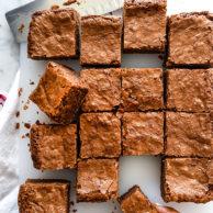 Classic Fat Witch Dark Chocolate Brownies Recipe | foodiecrush.com