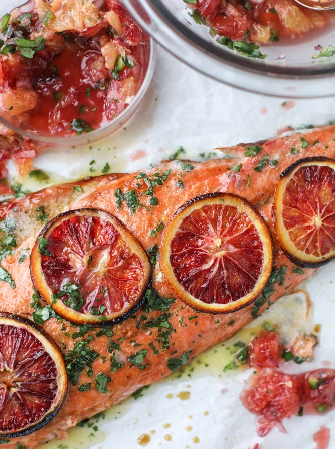 Winter Citrus Butter Salmon from howsweeteats.com on foodiecrush.com