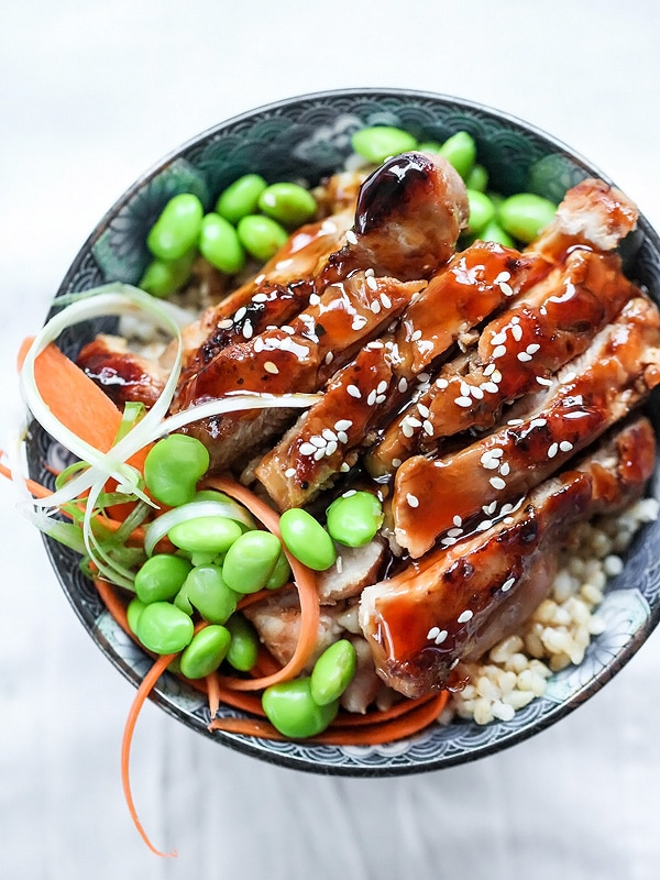 7 Spice Teriyaki Chicken Rice Bowls from foodiecrush.com on foodiecrush.com