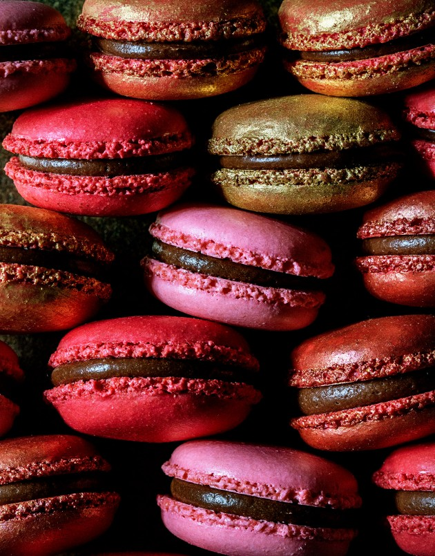 Black Cherry Macarons | foodiecrush.com