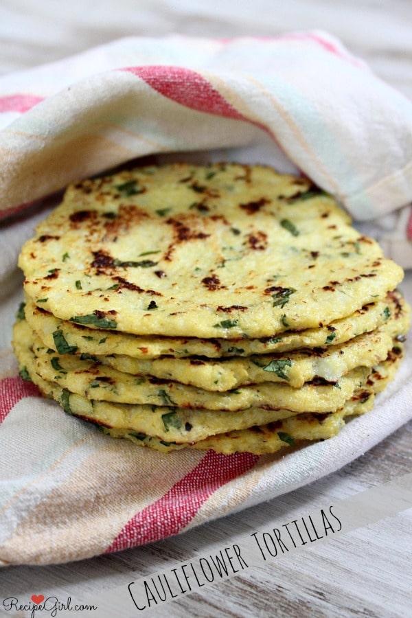 Cauliflower Tortillas from Recipe Girl | foodiecrush.com