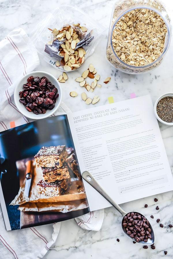 Chocolate, Cherries and Chia Seed No-Bake Cookie Bars | foodiecrush.com