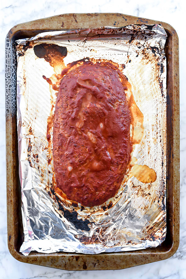 Healthy Meatloaf With Tomato Glaze | foodiecrush.com