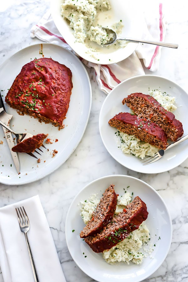 Healthier Turkey Meatloaf With Tomato Glaze | foodiecrush.com