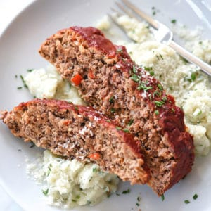 Healthier Turkey Meatloaf With Tomato Glaze | foodiecrush.com