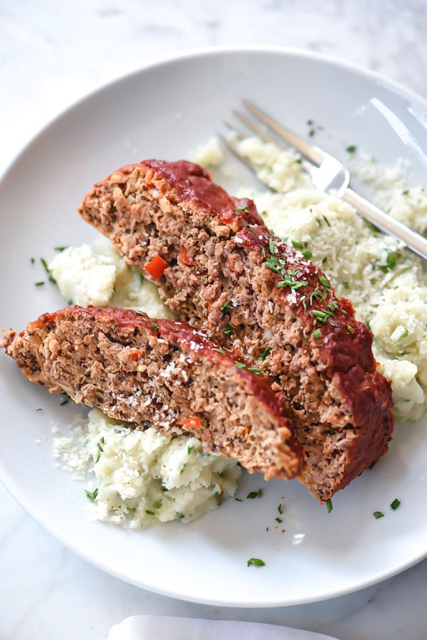 Healthy Turkey Meatloaf With Tomato Glaze | foodiecrush.com