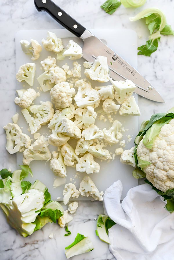 Mashed Cauliflower with Parmesan | foodiecrush.com