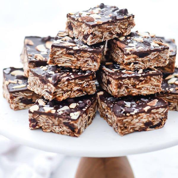 No-Bake Cookie Bars with Chocolate, Cherries and Chia Seeds   foodiecrush.com