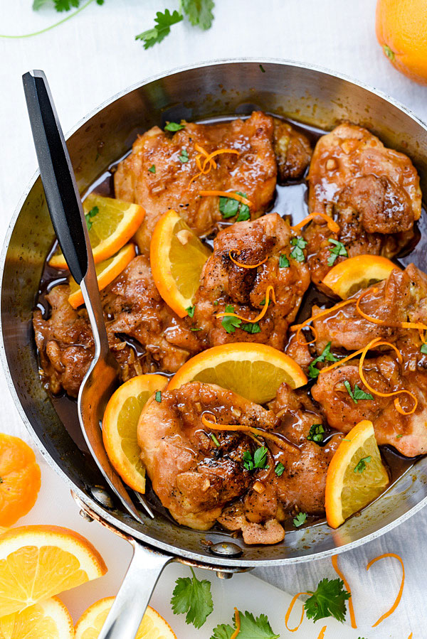 Asian Glazed Orange Chicken from foodiecrush.com on foodiecrush.com