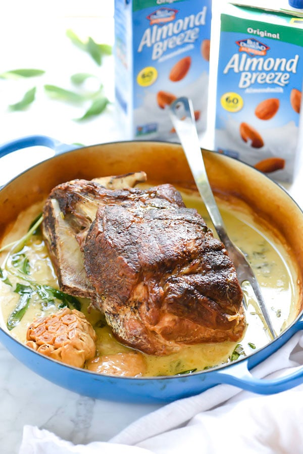 Braised Pork Roast in Almond Milk | foodiecrush.com