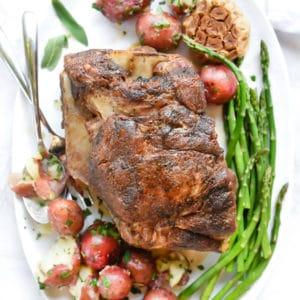 Braised Pork Roast in Almond Milk | foodiecrush.com