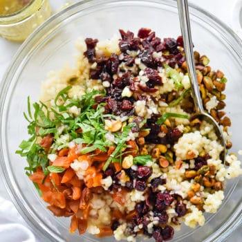 CousCous with Pistachios, Apricots and Cranberries | foodiecrush.com
