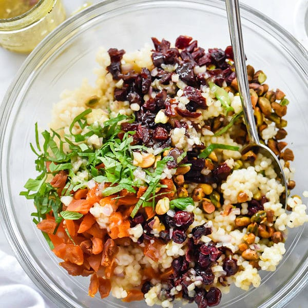 CousCous with Pistachios, Apricots and Cranberries | foodiecrush.com