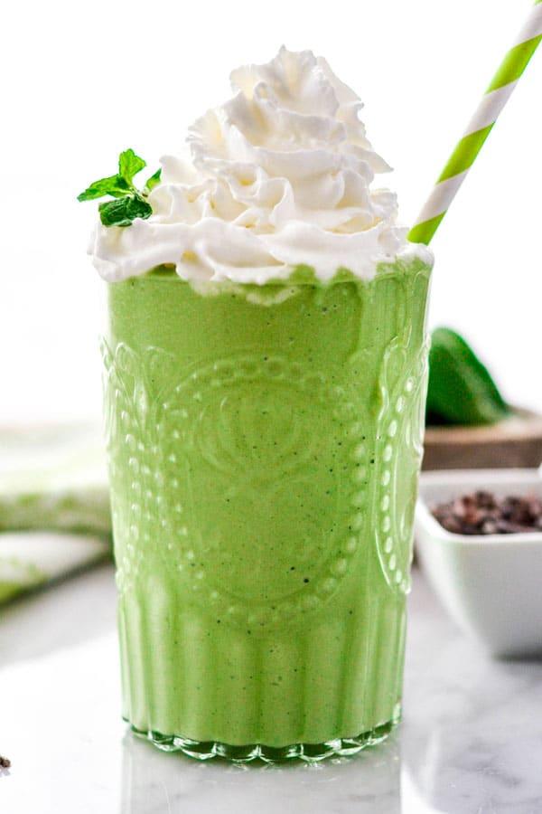 Healthy Shamrock Shake from Joy Food Sunshine on foodiecrush.com
