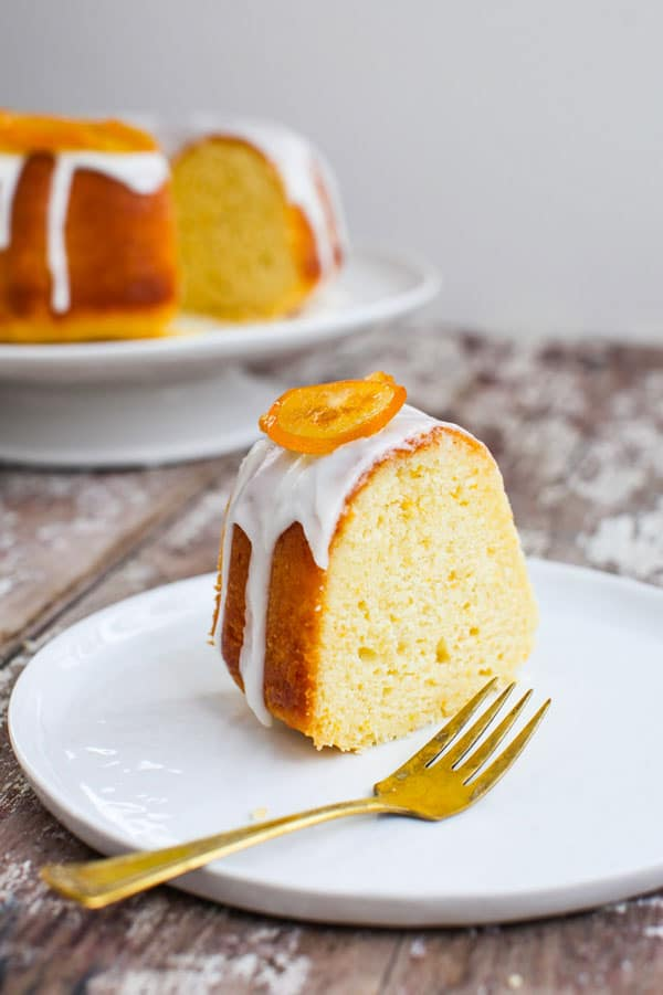 Glazed Meyer Lemon Bundt Cake with Candied Lemons from Simple Bites on foodiecrush.com