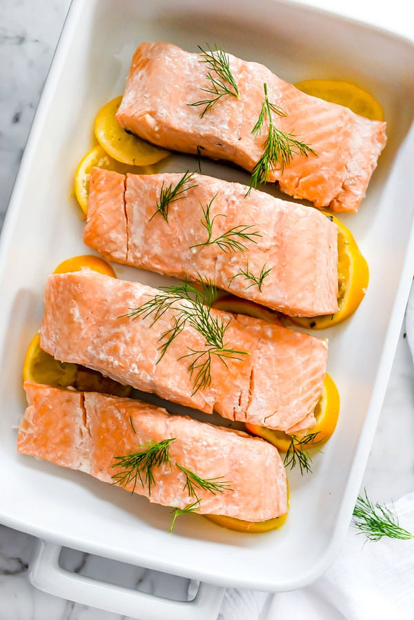 Poached Salmon With Mustard Dill Sauce Foodiecrush Com