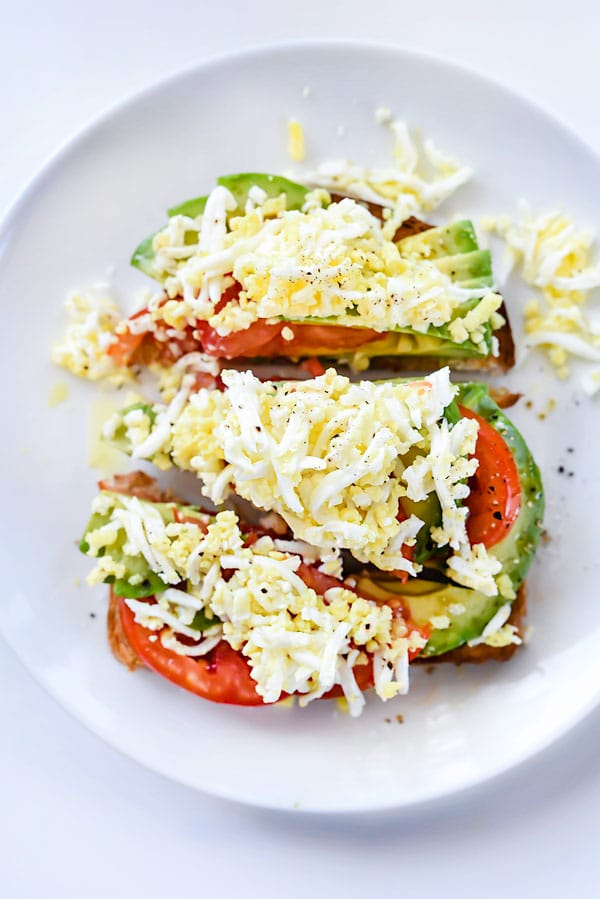 Shaved Egg Avocado Toast | foodiecrush.com