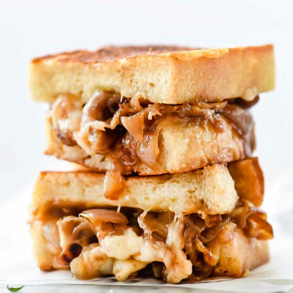 French Onion Grilled Cheese Sandwich | foodiecrush.com