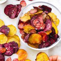 How to Make Crispy Beet Chips | foodiecrush.com