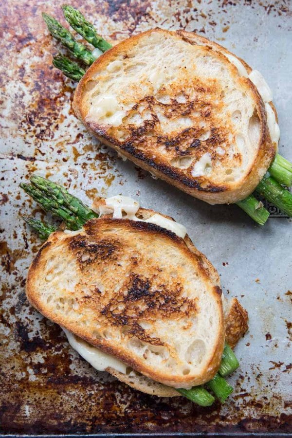 Asparagus Grilled Cheese by Vintage Mixer | foodiecrush.com