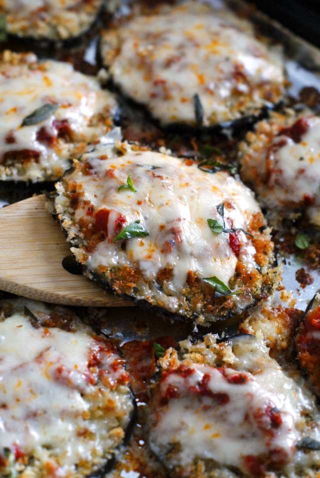 Sheet Pan Eggplant Parmesan from The Two Bite Club on foodiecrush.com