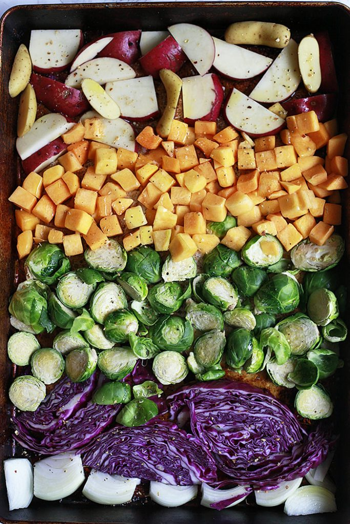 Sheet Pan Buddha Bowls from Yummy Mummy on foodiecrush.com