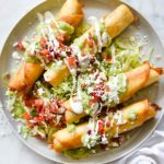 Chipotle Chicken Taquitos | foodiecrush.com