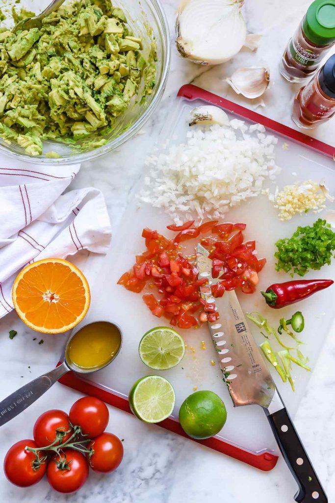 Chunky Citrus Guacamole Recipe   foodiecrush.com