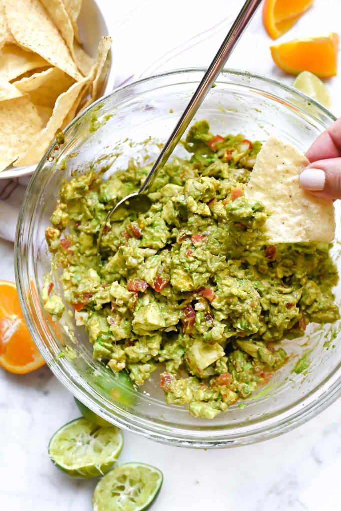 Chunky Citrus Guacamole Recipe | foodiecrush.com