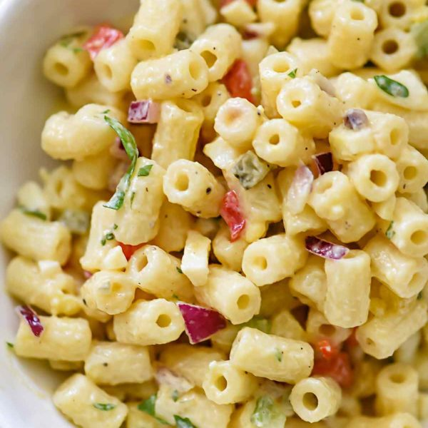 How to Make Classic Macaroni Salad | foodiecrush.com