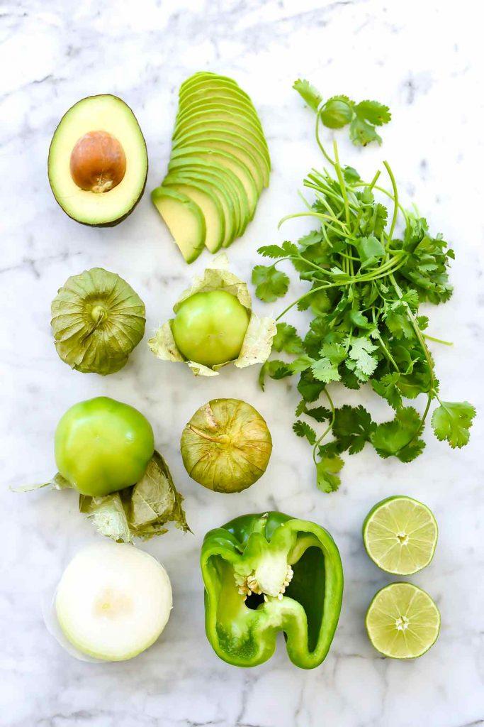 Creamy Avocado Salsa Verde ingredients