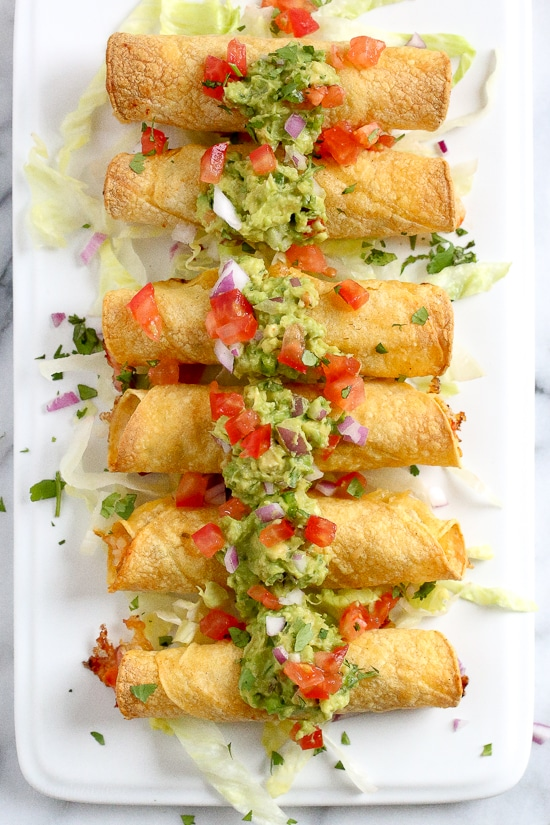 Baked Shrimp Taquitos from Skinnytaste on foodiecrush.com