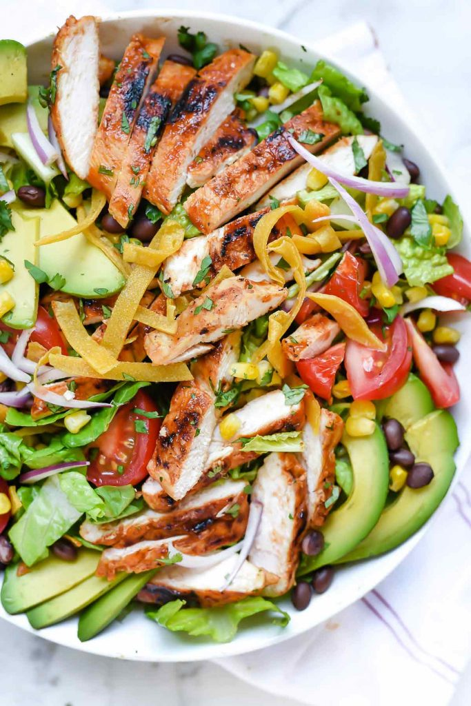 Southwest BBQ Chicken Salad | foodiecrush.com | Black Bean Chicken Salad | Salad Dinner | CPK Salad