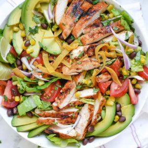Southwest BBQ Chicken Salad | foodiecrush.com | Black Bean Chicken Salad | Salad Dinner | CPK Salad