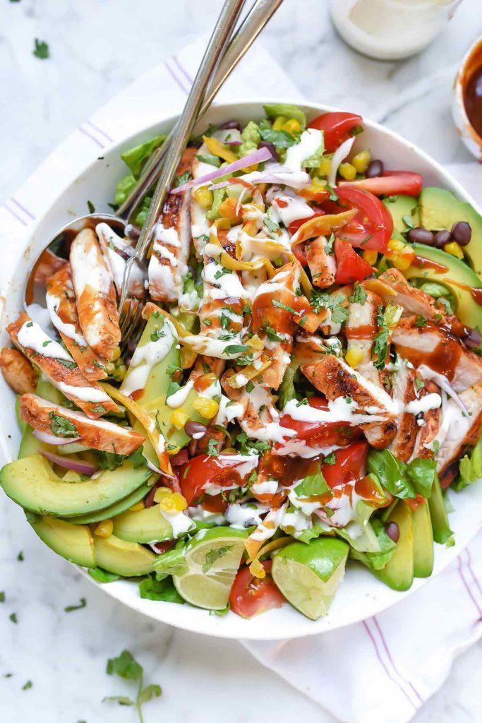 Southwest BBQ Chicken Salad   foodiecrush.com   Grilled Chicken Salad   Salad Dinner   CPK Salad