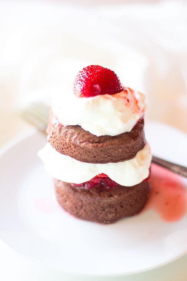 Chocolate Strawberry Shortcake from Well Floured on foodiecrush.com