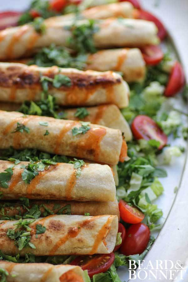 Sweet Potato and Lime Taquitos from This Mess Is Ours on foodiecrush.com