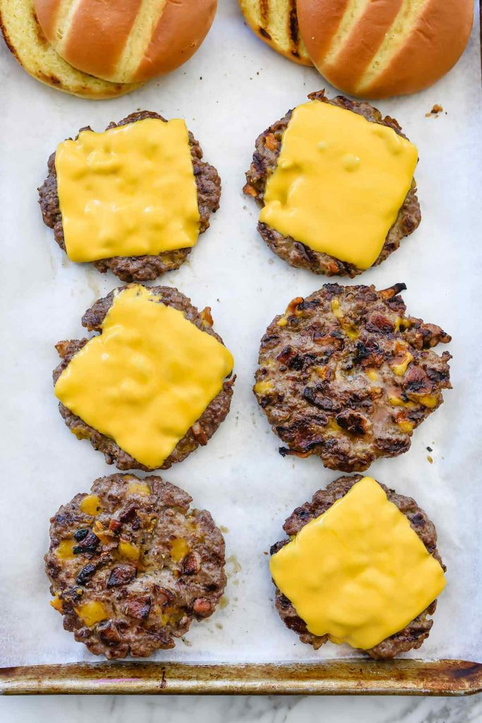 Bacon Double Cheddar Cheeseburger | foodiecrush.com