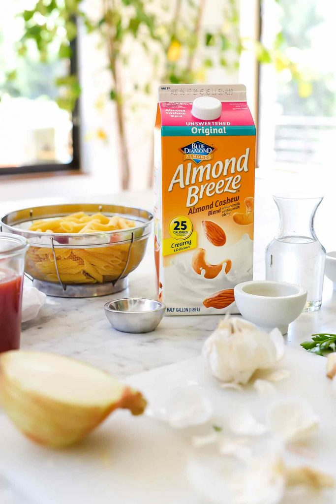 Almond Breeze pasta ingredients | foodiecrush.com