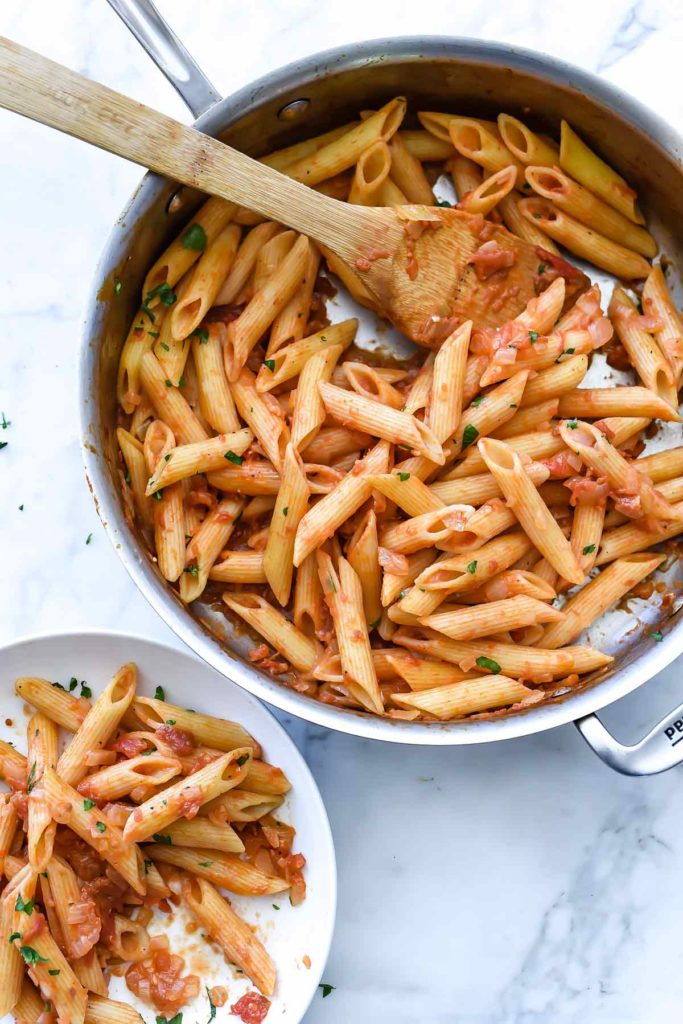 Lighter Penne alla Vodka Recipe without cream | foodiecrush.com