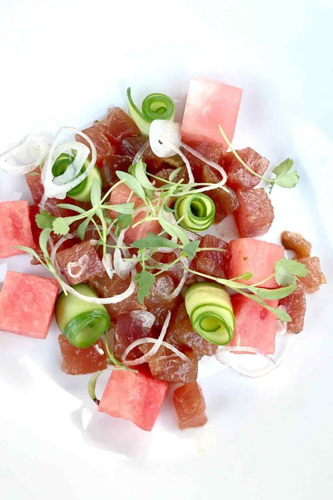 Ahi Watermelon Salad | foodiecrush.com