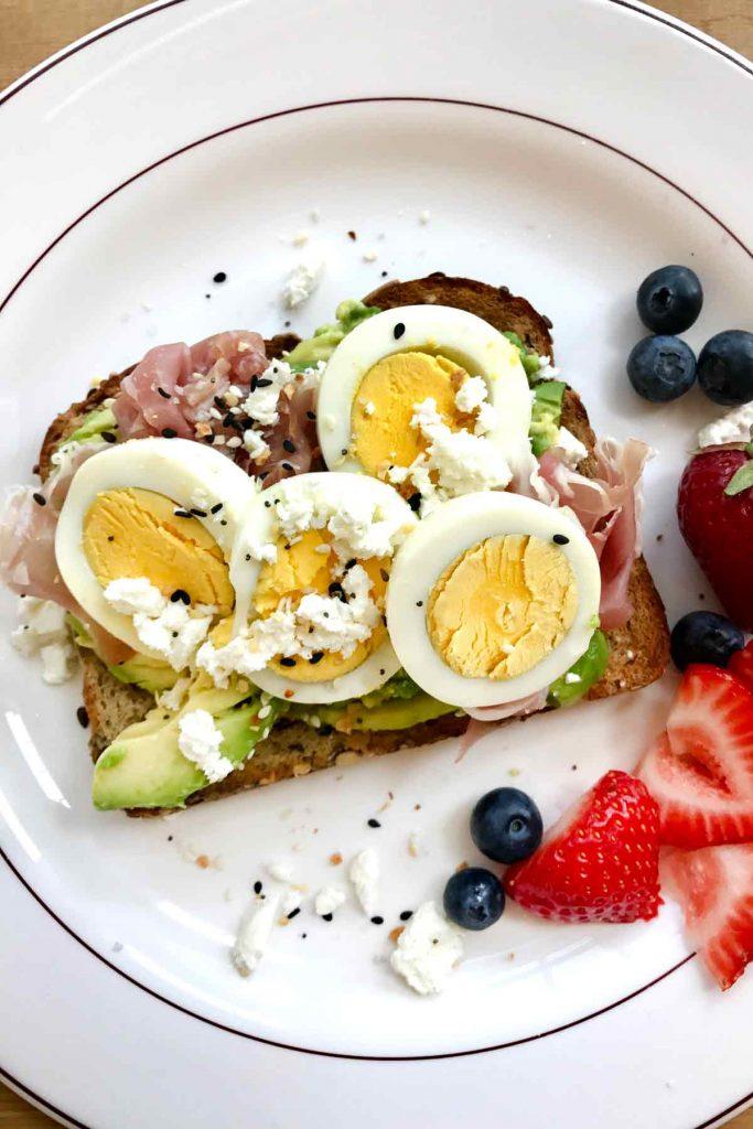 Avocado Egg Toasts foodiecrush.com