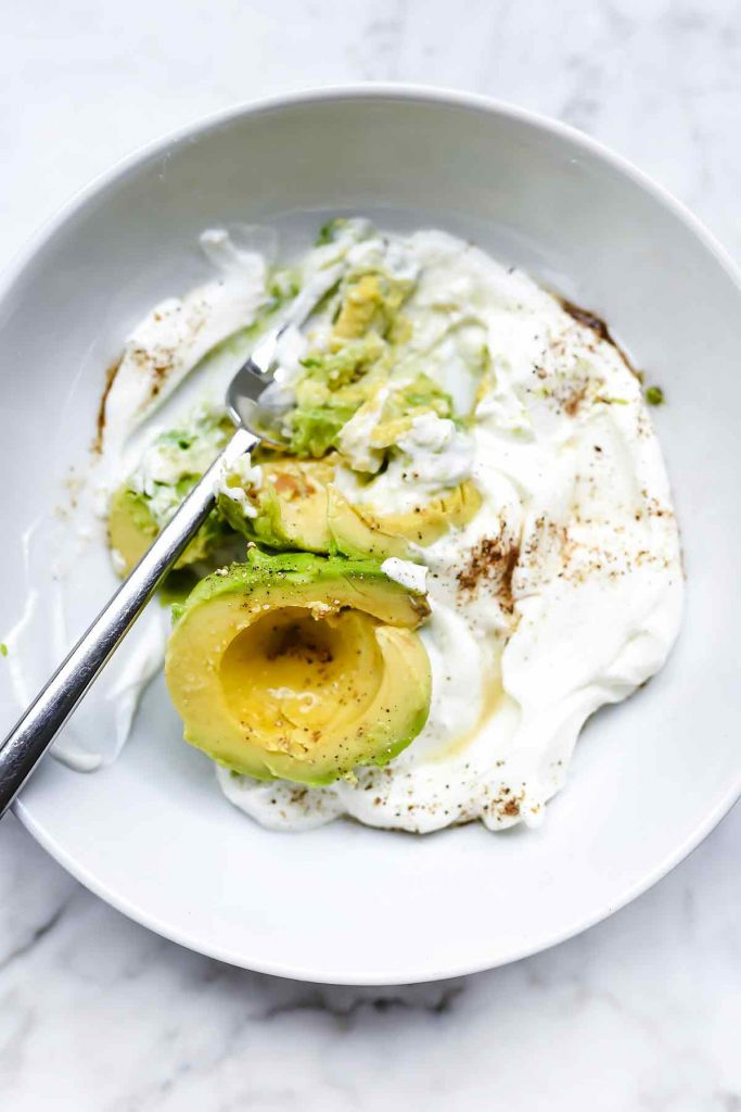 Avocado and Greek Yogurt Sauce | foodiecrush.com