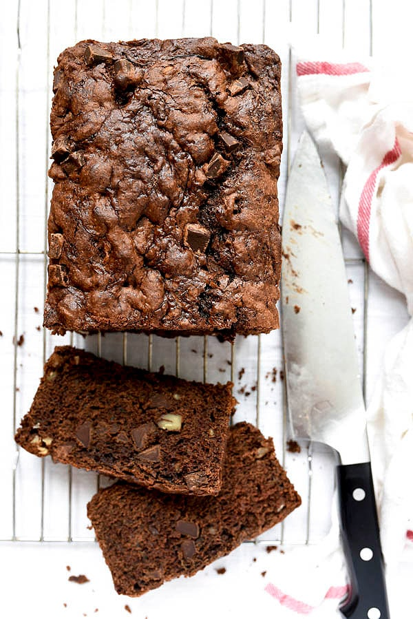 Double Chocolate Zucchini Bread from foodiecrush.com on foodiecrush.com