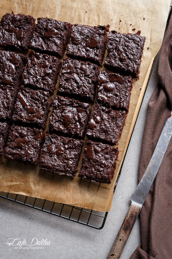Low Carb Zucchini Brownies from cafedelites.com on foodiecrush.com