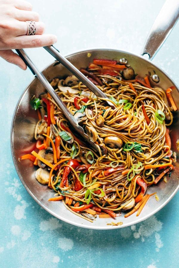 15 Minute Lo Mein from pinchofyum.com on foodiecrush.com