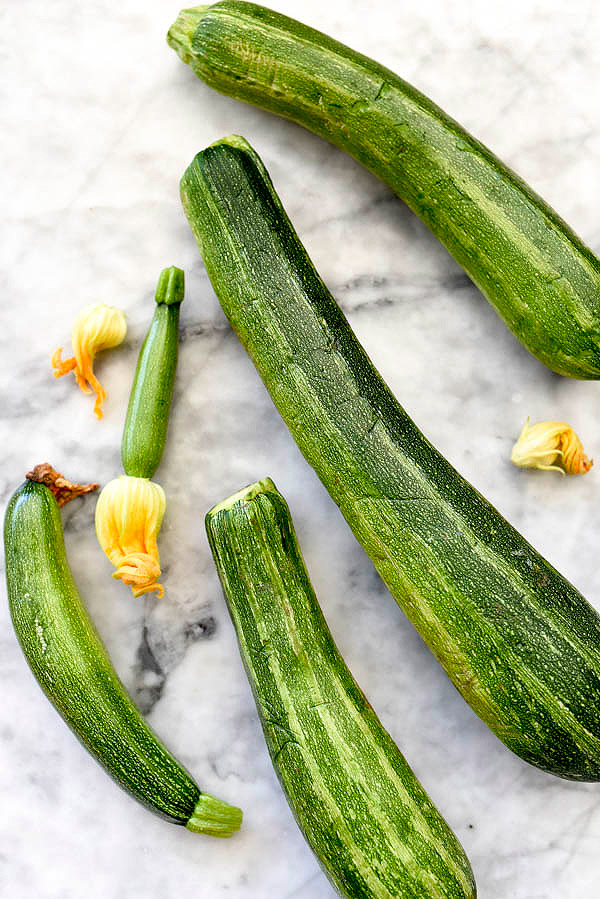 fresh zucchini for chicken and zucchini tacos