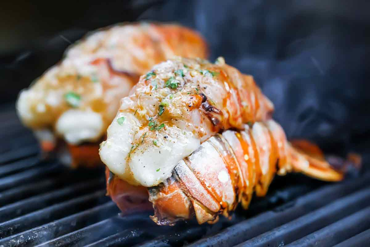 Grilled Lobster Tails with Smoked Paprika Butter | foodiecrush.com